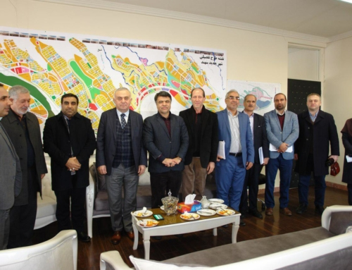Dr. Mustafavi's intimate and friendly visit with Turkish investors and engineer Zarei from Khatam Al Anbia